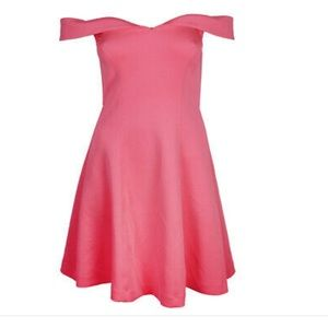 Guess Neon Pink A-LINE Skater Dress SZ LARGE